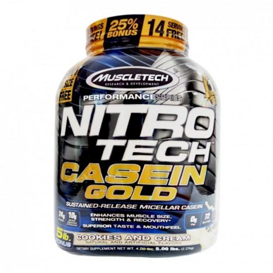 Nitro Tech Casein Gold 5lbs. De Muscle Tech