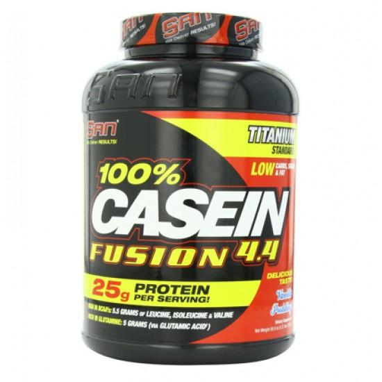 100% Casein Fusion 4.4 4.37lbs De SAN