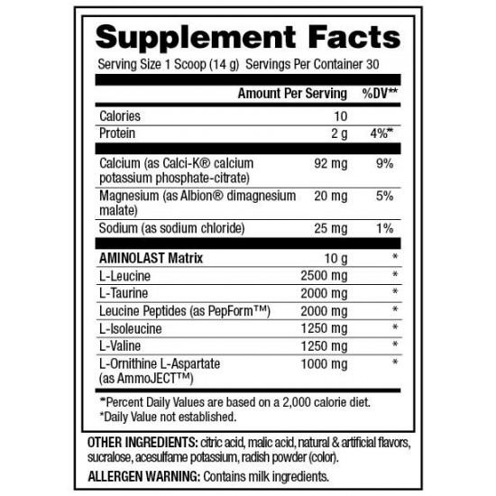 Aminolast 420grs. de Gaspari Nutrition