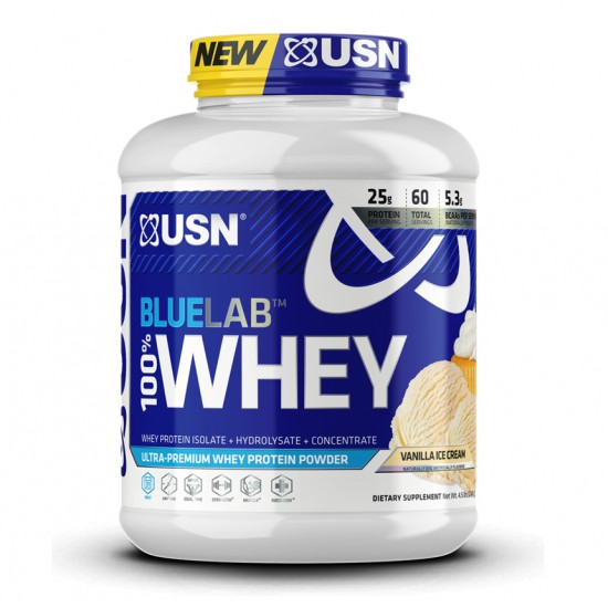 Blue Lab 100% whey 4.5lbs. de USN