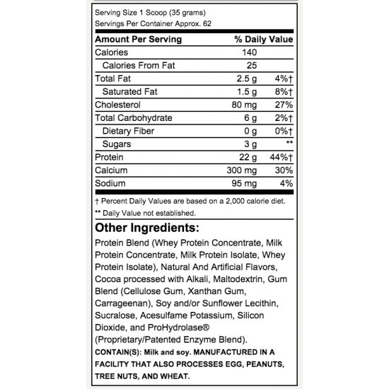 Total Protein 5lbs. De Cutler Nutrition