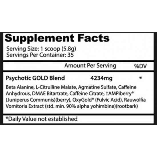 Psychotic GOLD 35servs. De Insane Labz