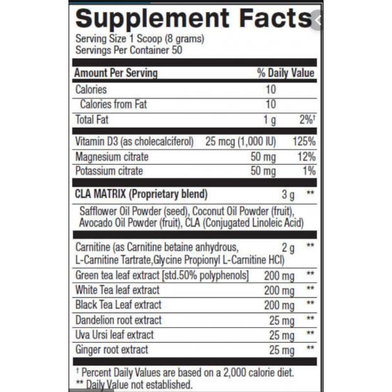 CLA + Carnitine Shredded 50servs. de BPI sports