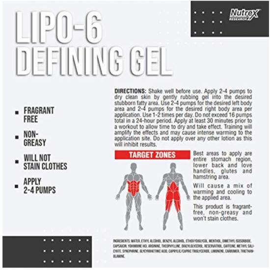 Lipo 6 Defining Gel 120ml. De NUTREX