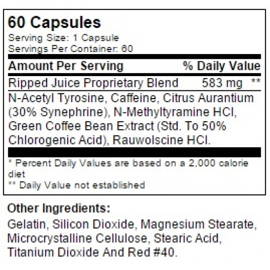 Ripped Juice EX2 60 caps. De Betancourt